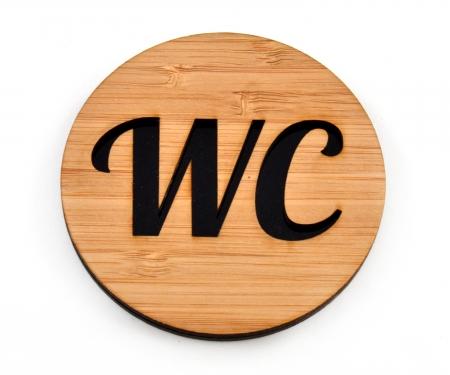 WC-Schild mit Piktogramm (selbstklebend)