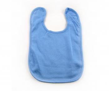 Baby Lätzchen mit Klettverschluss - (Babyblau)