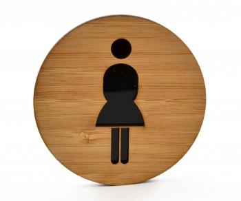 WC-Schild Damen mit Piktogramm (selbstklebend)