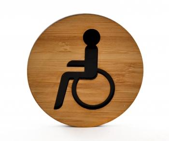 Behinderten WC-Schild mit Piktogramm (selbstklebend)