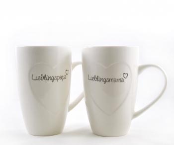 Tasse Lieblingsmama oder Lieblingspapa