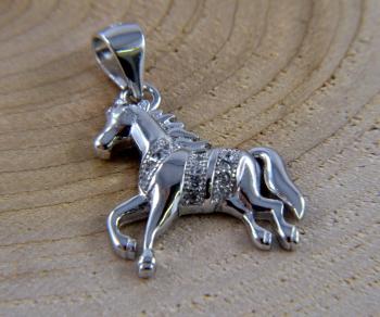 Schmuckanhänger Echt Silber Pferd