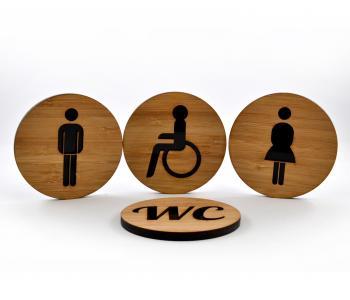 WC-Schild Herren mit Piktogramm (selbstklebend)