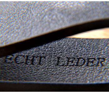 Schlüsselanhänger Leder/Edelsthal - Schwarz