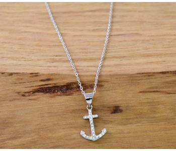 Halskette (925er Silber/rhodiniert)