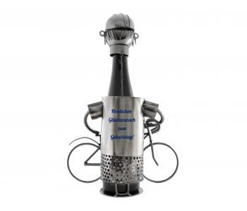 Flaschenständer Fahrradfahrer