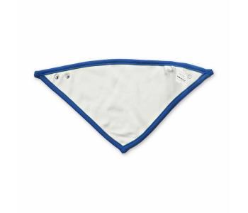 Baby Dreieckstuch - beidseitig tragbar (Blau/Weiß)