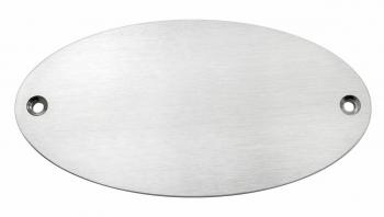 N7 Türschild oval (Edelstahl)